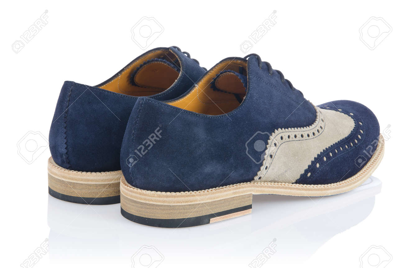 Male shoes in fashion concept on white Stock Photo - 16834561