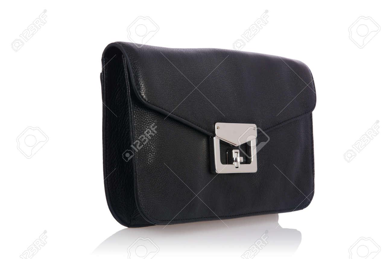Nice elegant woman bag isolated on the white Stock Photo - 16833471