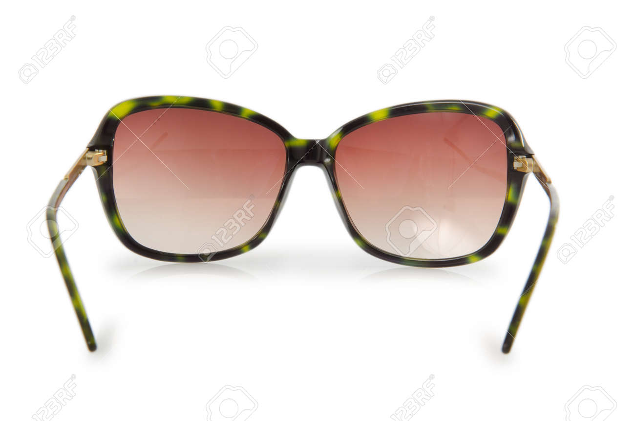 Fashion concept with sunglasses on white Stock Photo - 16832261