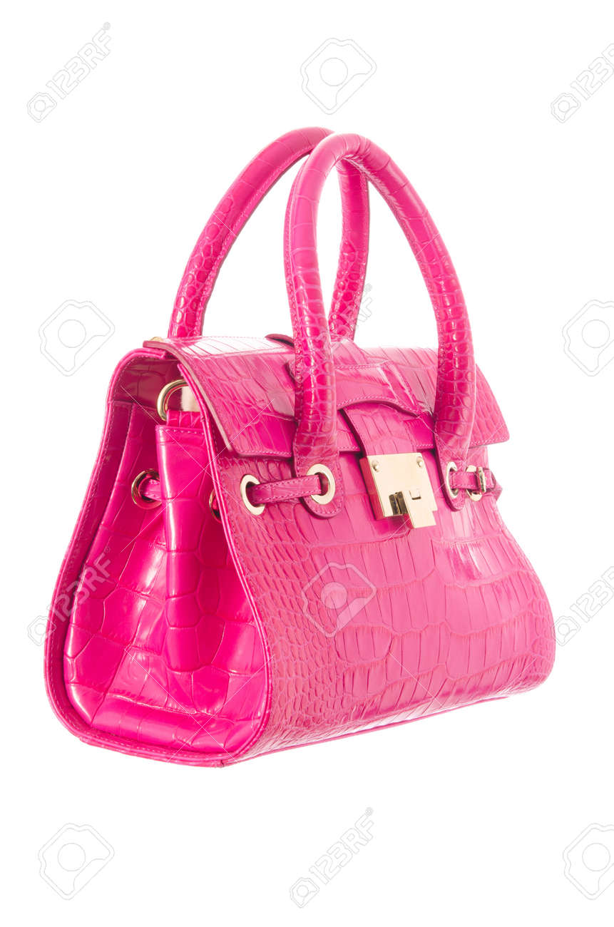 Nice elegant woman bag isolated on the white Stock Photo - 16897712