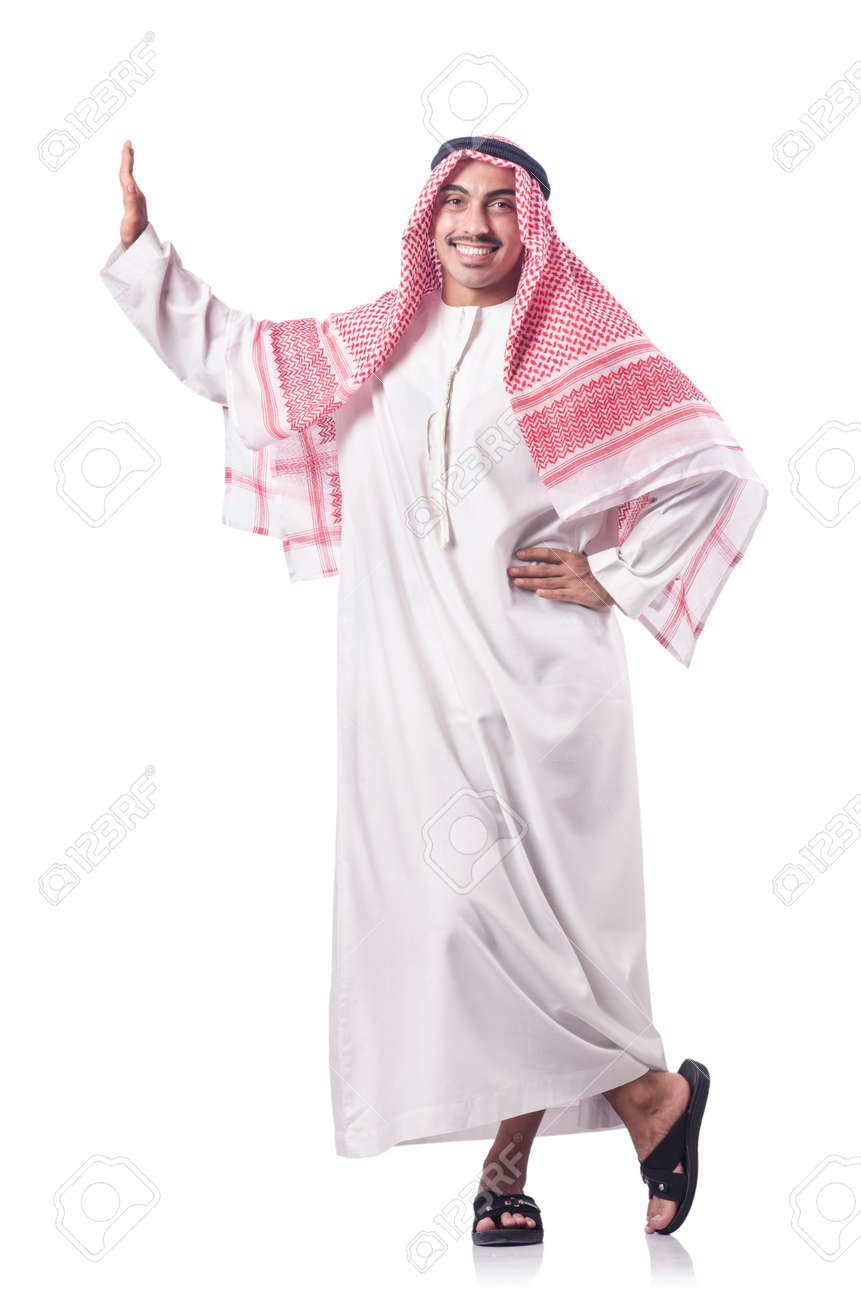 Arab man isolated on the white Stock Photo - 16942471