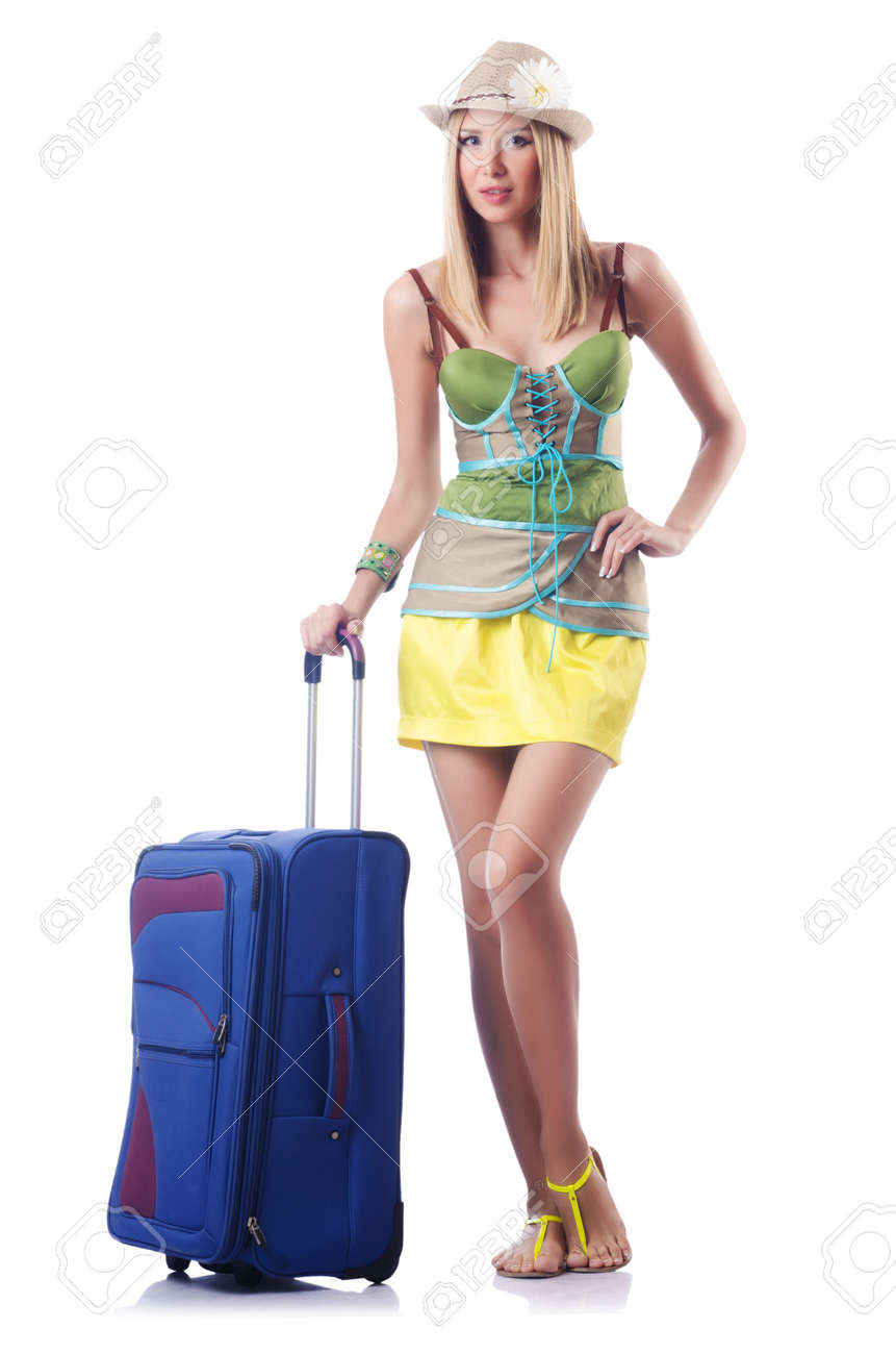 Attractive woman ready for summer vacation Stock Photo - 16942483