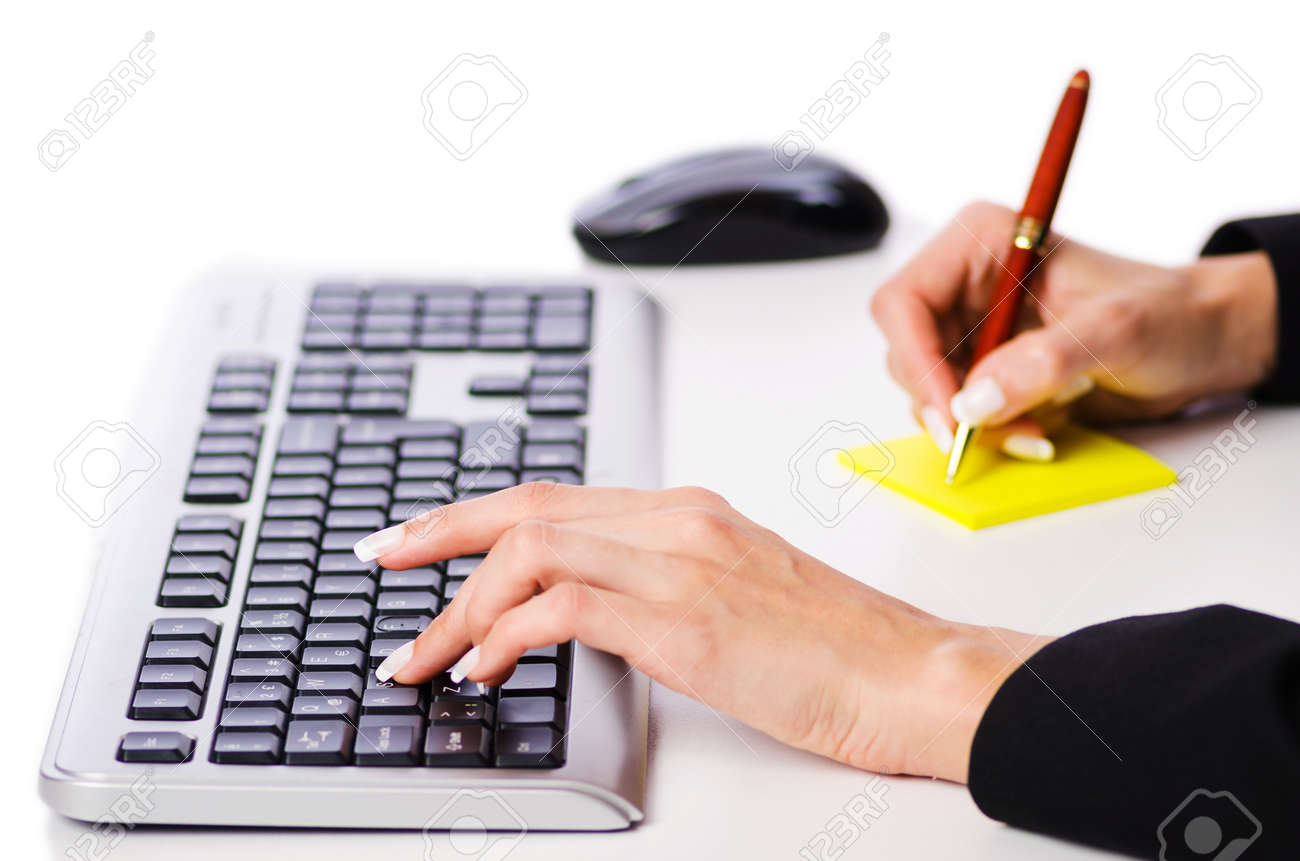 Hands working on the keyboard Stock Photo - 16897585