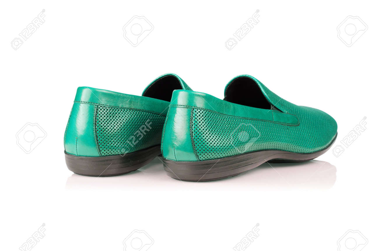 Fashion concept with male shoes on white Stock Photo - 17368535