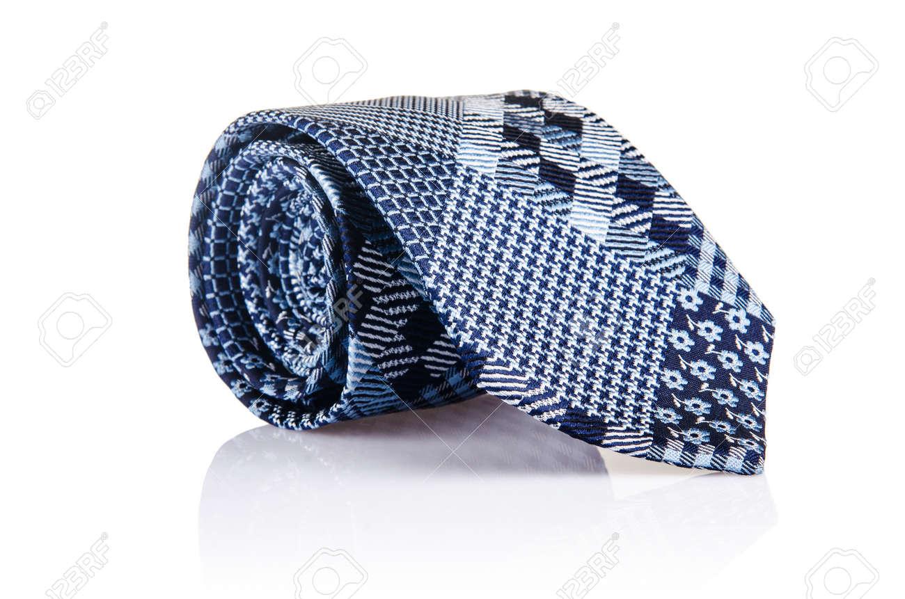 Elegant silk male tie ( necktie ) on white Stock Photo - 17367980