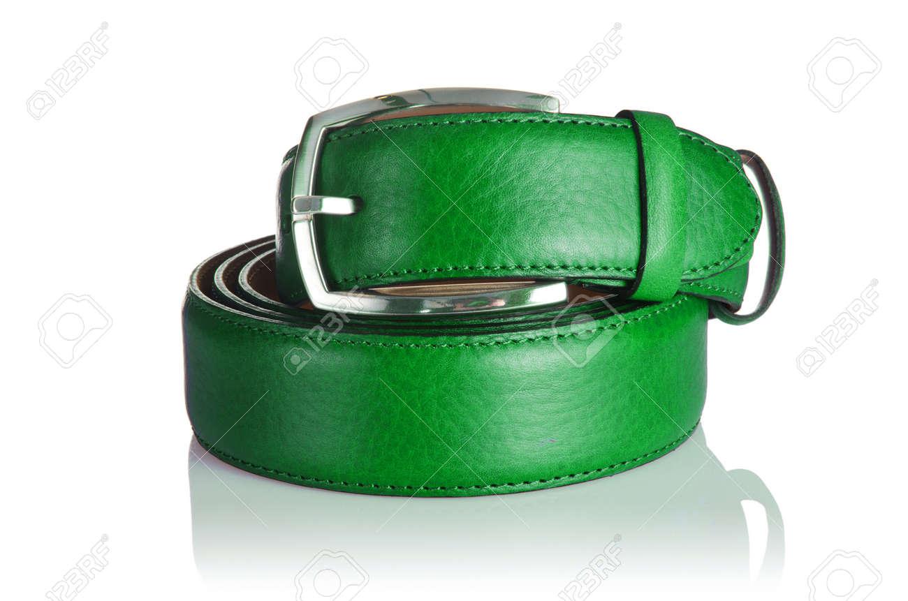 Male elegant belt isolated on the white Stock Photo - 17367872