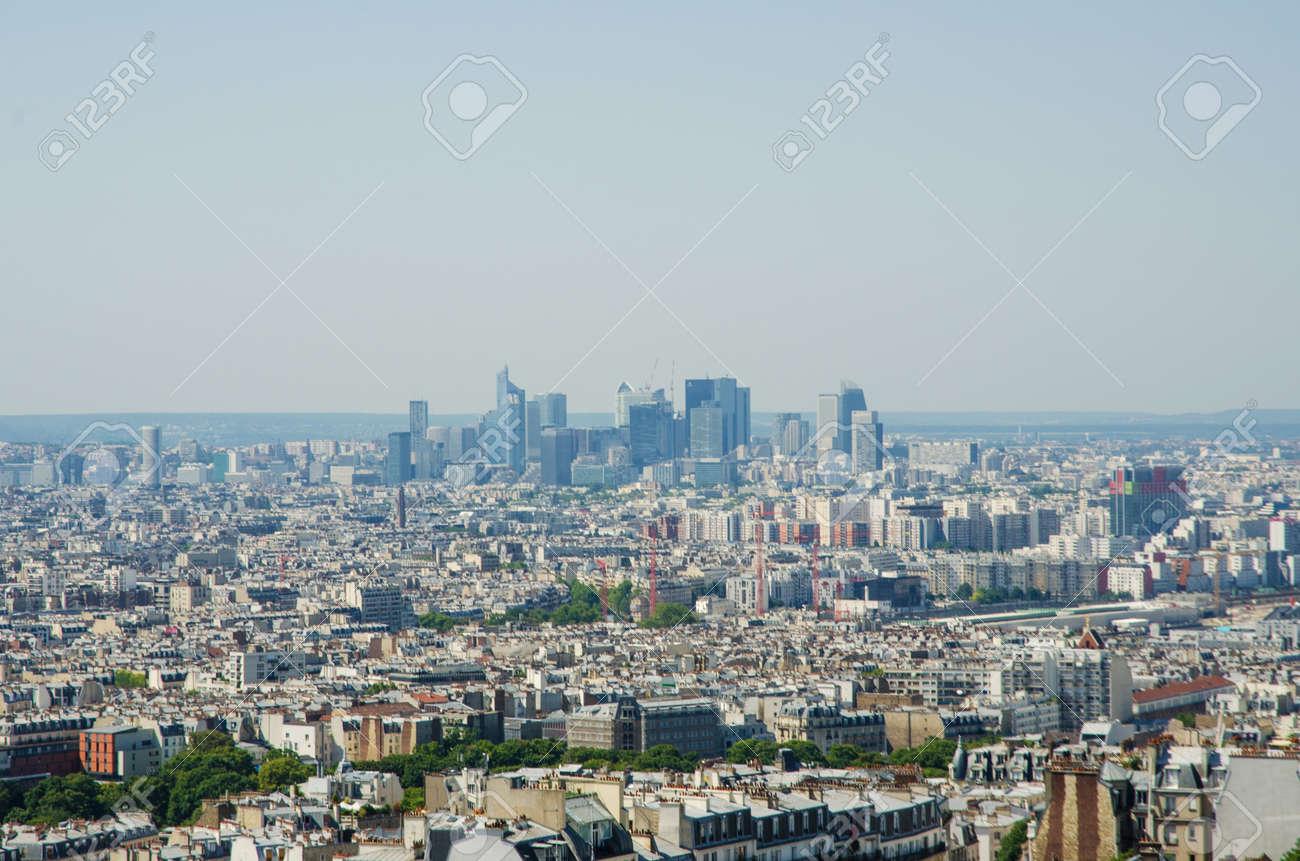 Skyline of Paris on bright summer day Stock Photo - 17368221