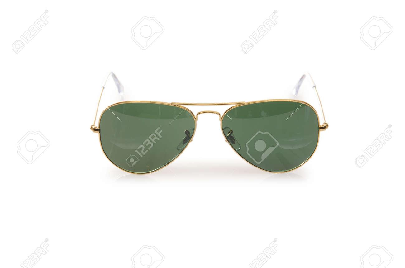 Elegant sunglasses isolated on the white Stock Photo - 17367025