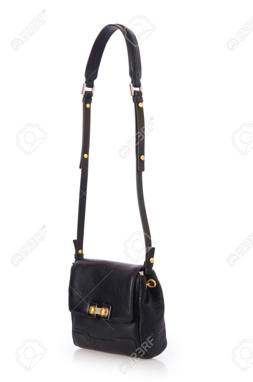 Nice elegant woman bag isolated on the white Stock Photo - 17373269