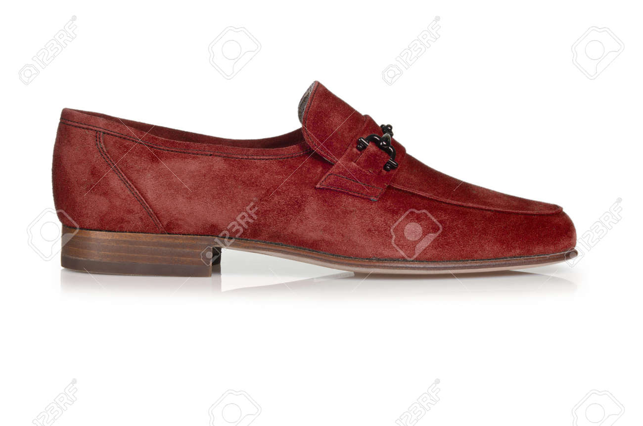 Fashion concept with male shoes on white Stock Photo - 18012169