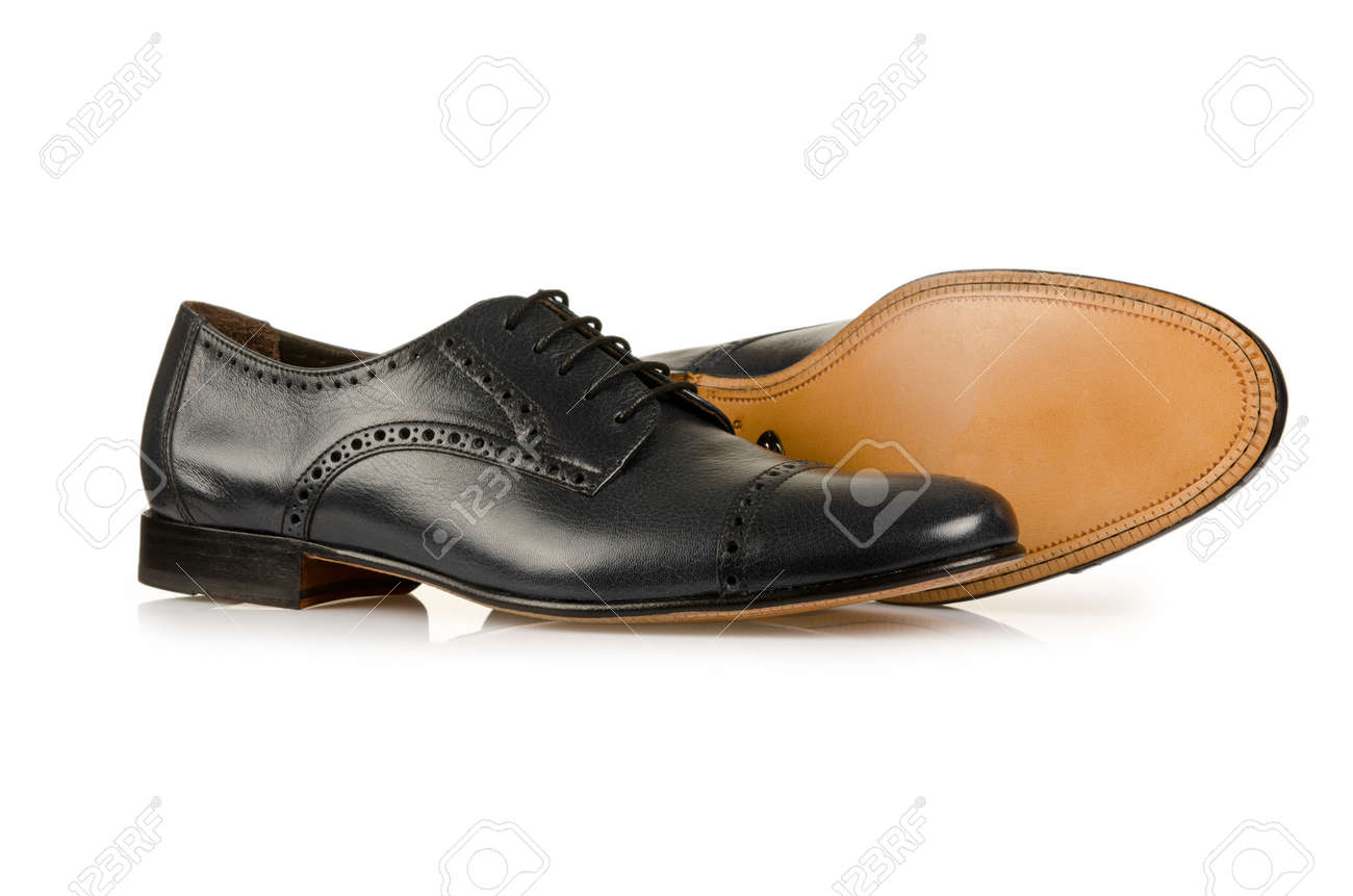 Fashion concept with male shoes on white Stock Photo - 18011948