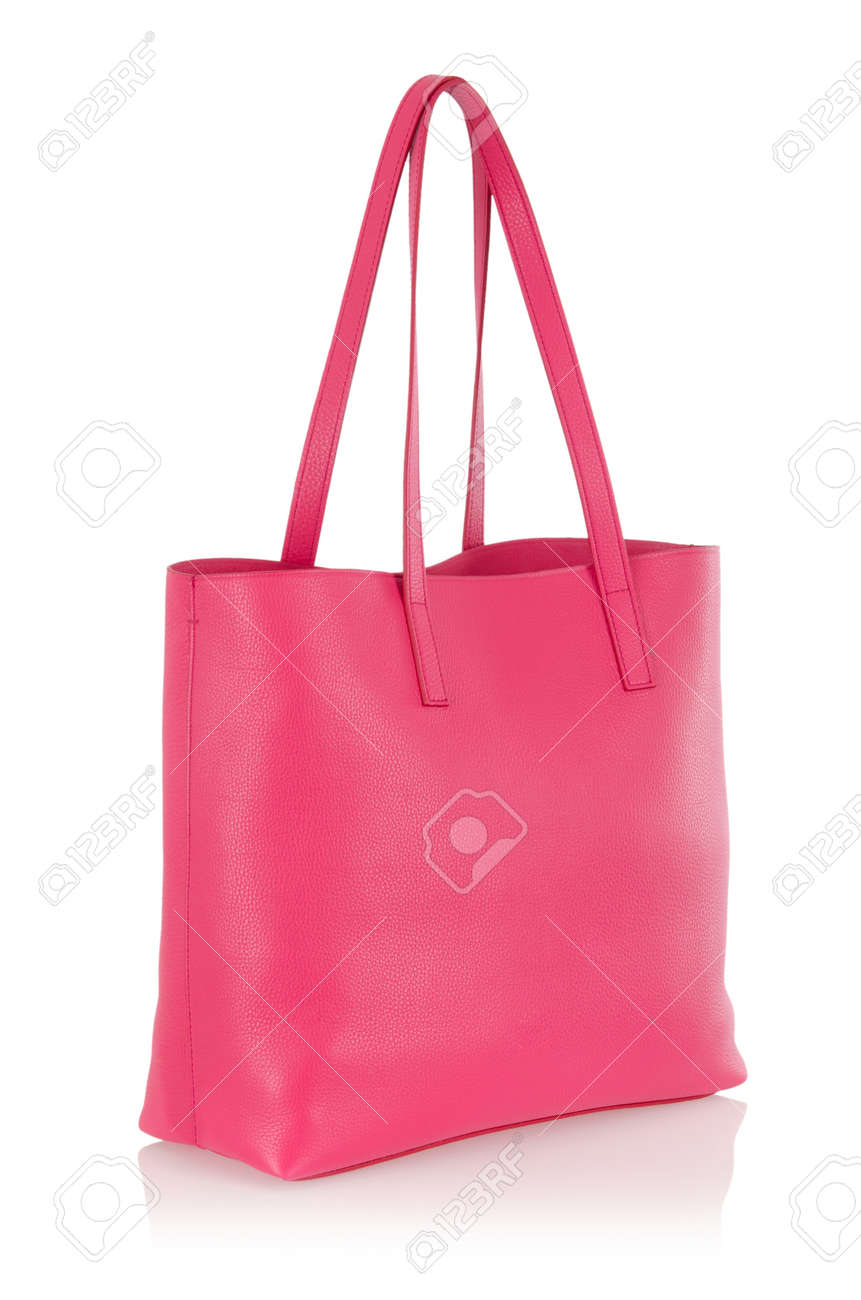 Nice elegant woman bag isolated on the white Stock Photo - 18012227