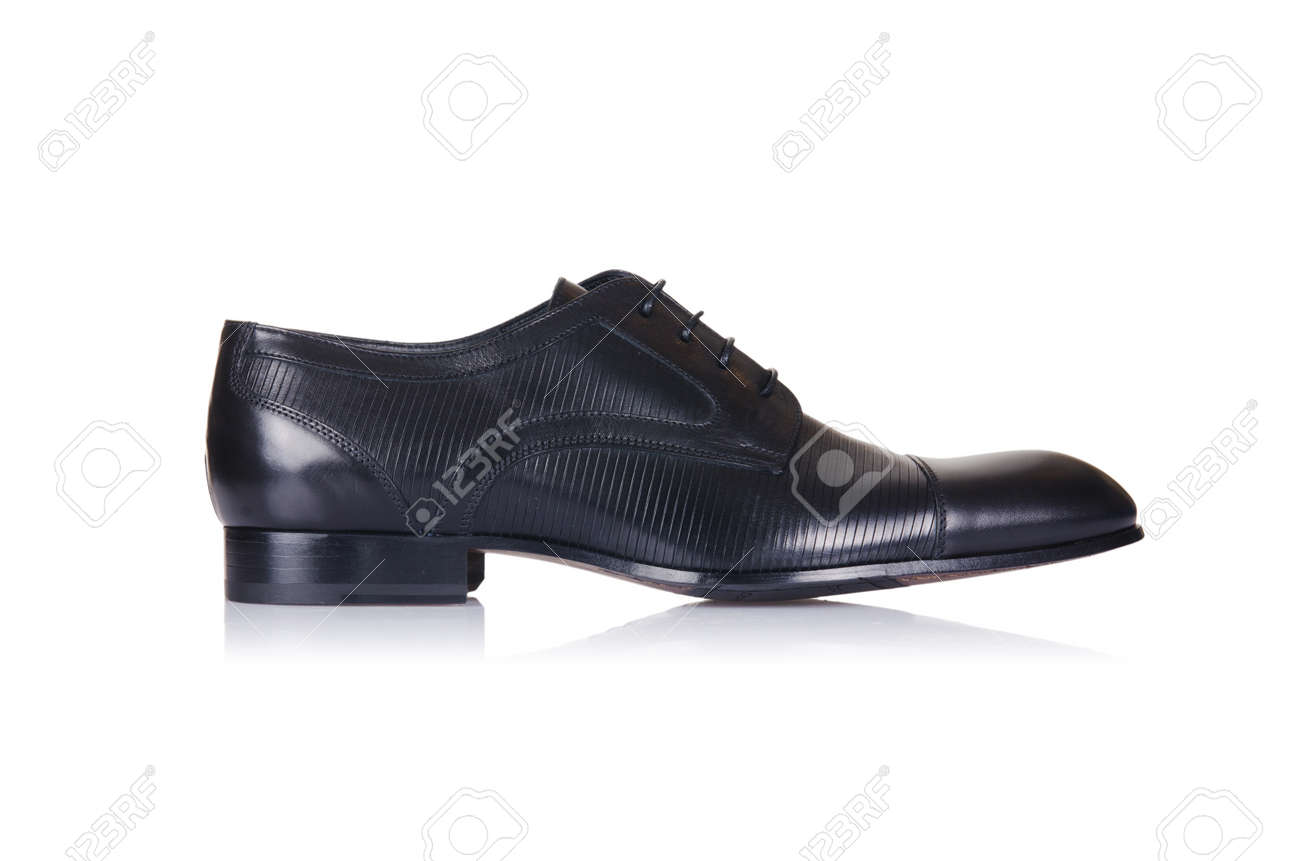 Fashion concept with male shoes on white Stock Photo - 18163089