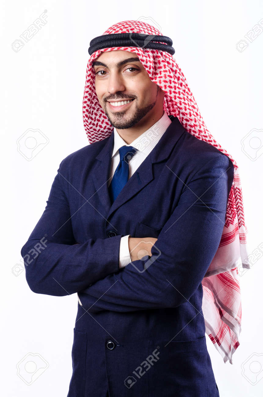 Arab businessman isolated on the white Stock Photo - 18662676