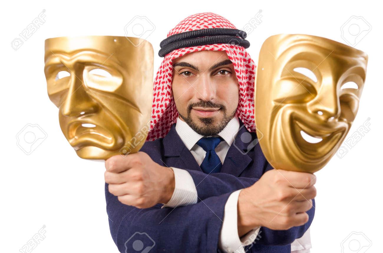 Arab man hypocrisy concept Stock Photo - 18636684