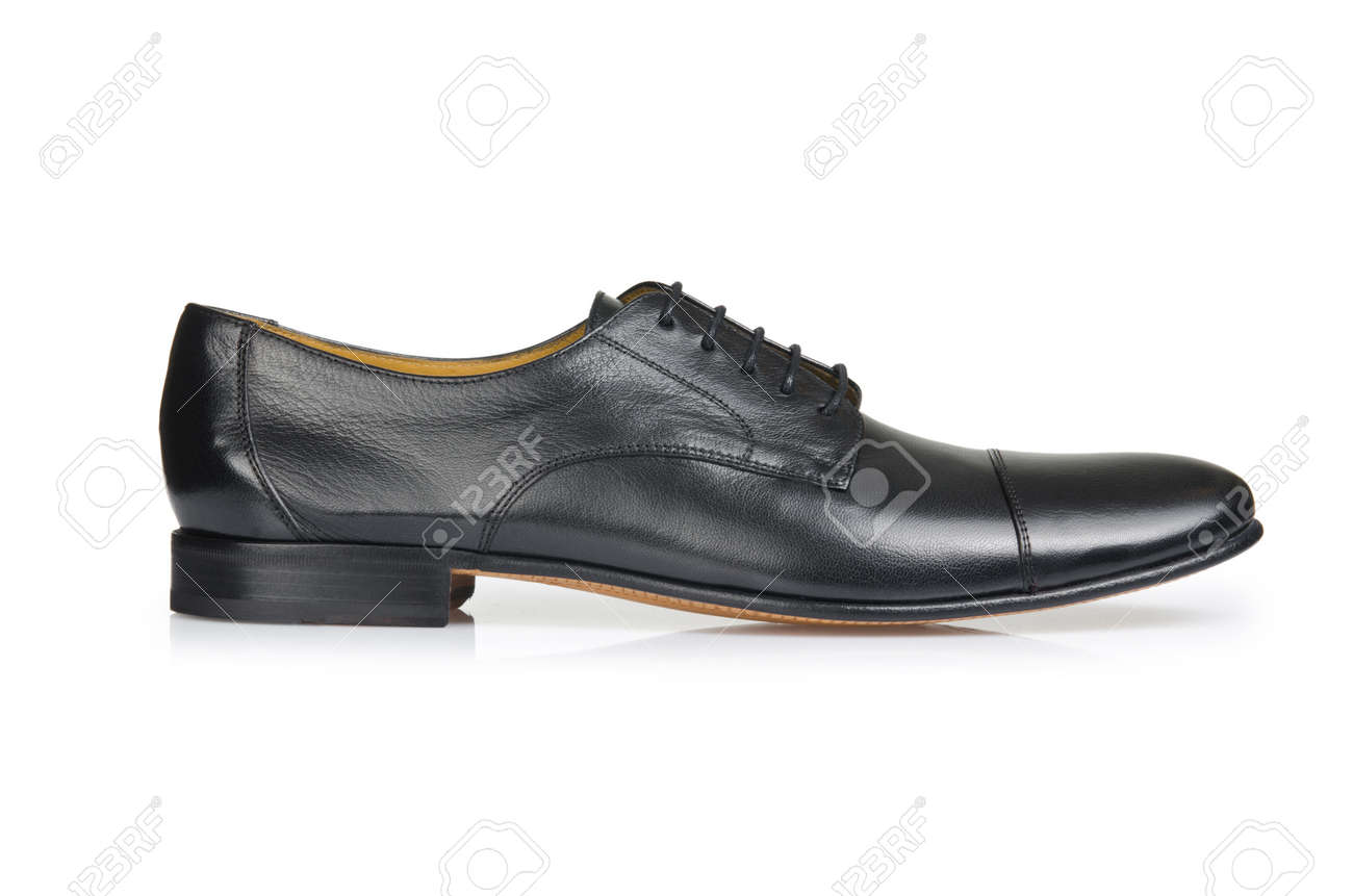 Fashion concept with male shoes on white Stock Photo - 18199320