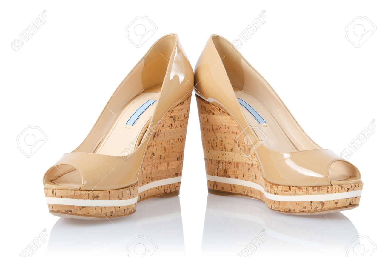 Nice woman shoes isolated on white Stock Photo - 18199390