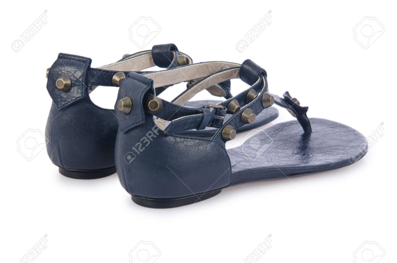Woman sandals isolated on the white Stock Photo - 18199384