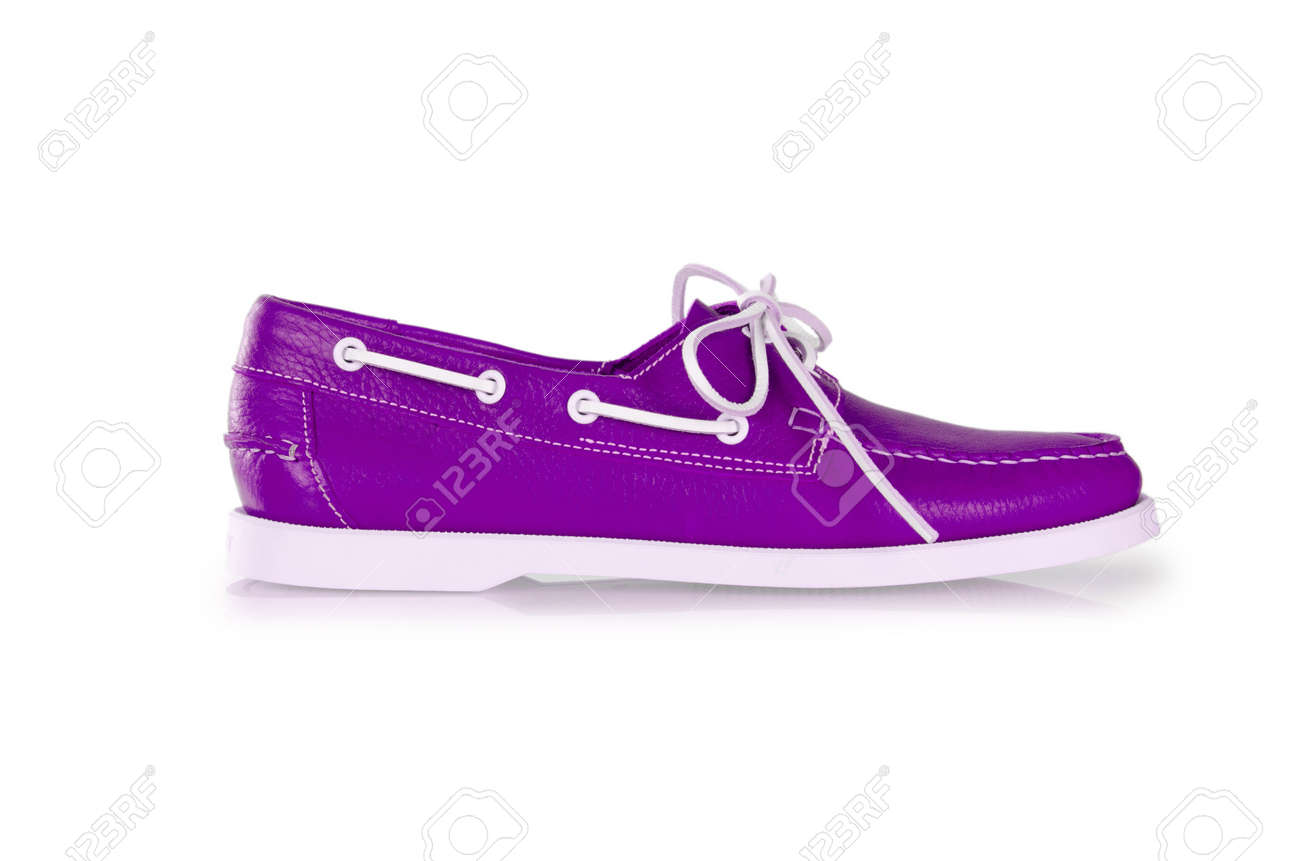Fashion concept with male shoes on white Stock Photo - 18175828