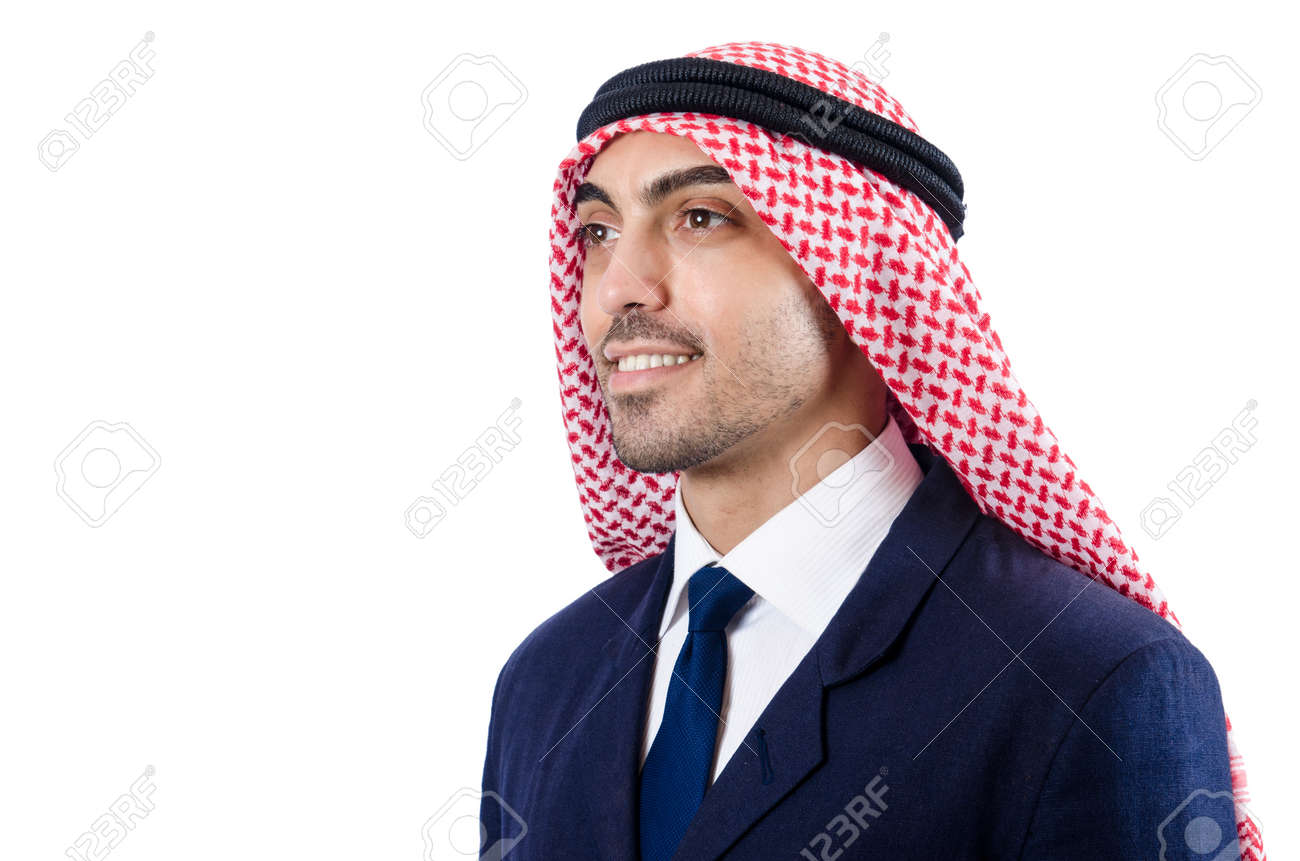Arab businessman isolated on the white Stock Photo - 18636668