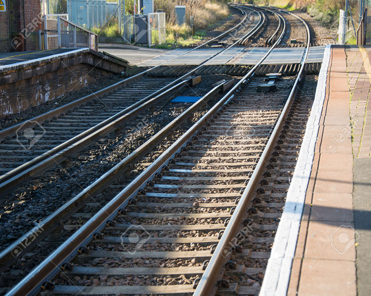 Rail tracks in bright summer day Stock Photo - 18302854