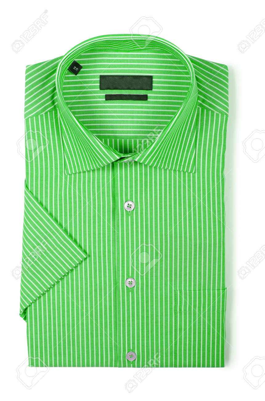 Nice male shirt isolated on the white Stock Photo - 18302852