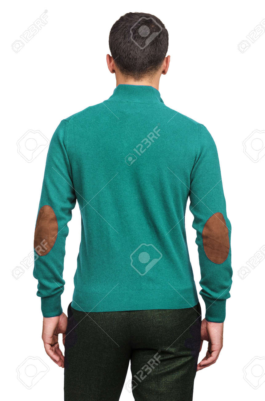 Male sweater isolated on the white Stock Photo - 18302623