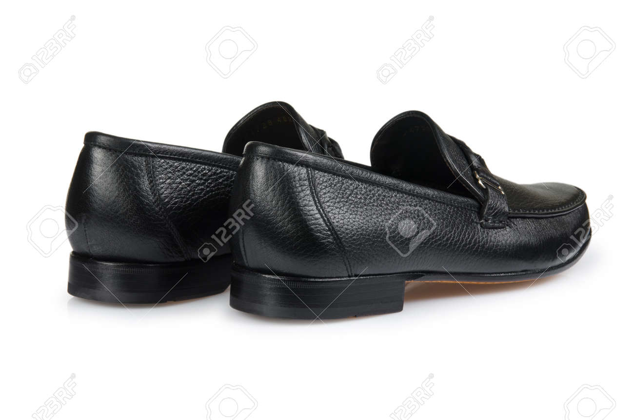 Fashion concept with male shoes on white Stock Photo - 18310060