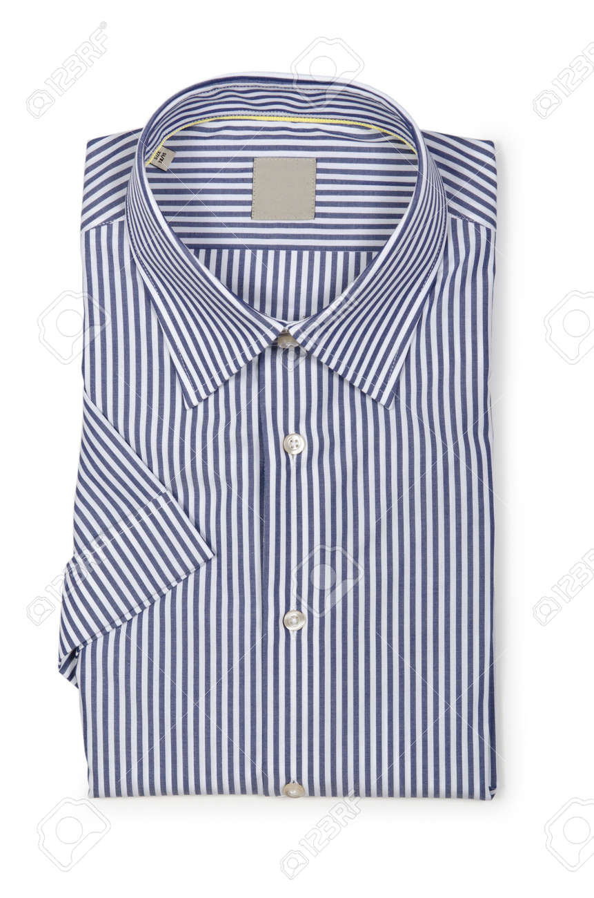 Nice male shirt isolated on the white Stock Photo - 18312883