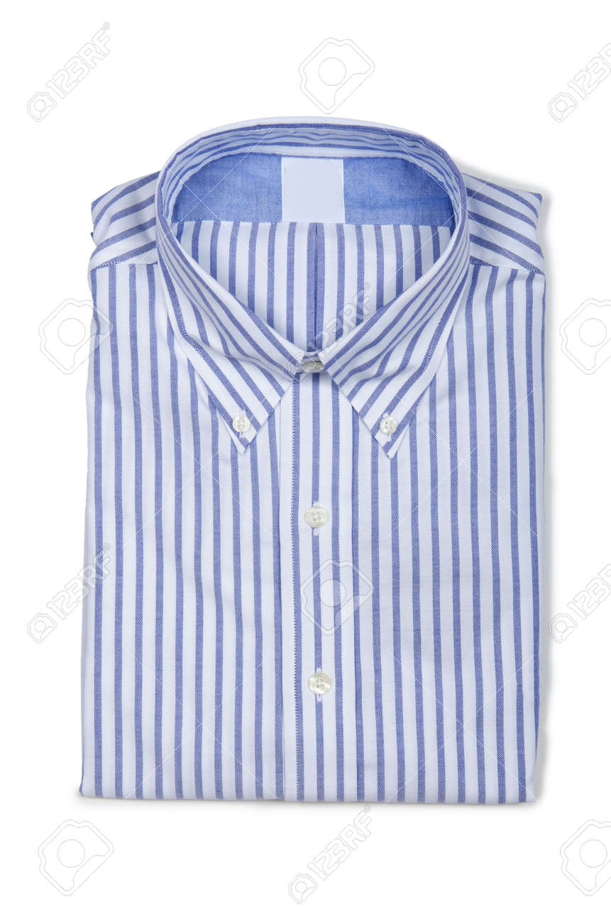 Nice male shirt isolated on the white Stock Photo - 18312871