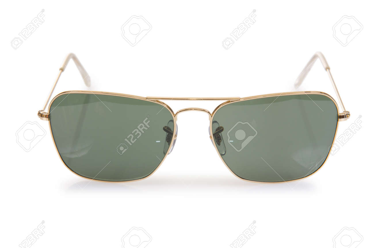 Elegant sunglasses isolated on the white Stock Photo - 18473316