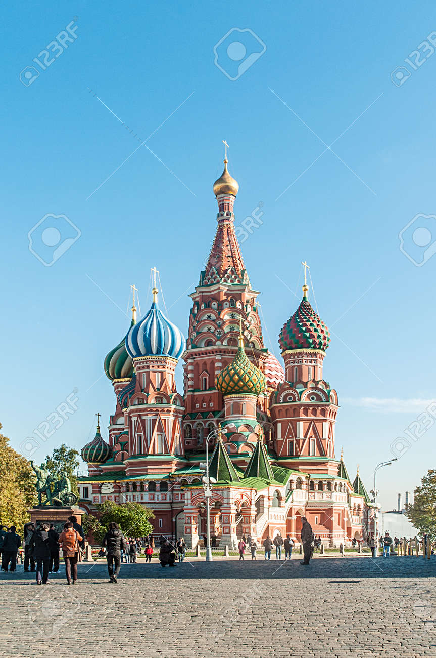 Famous st Vasily Blessed cathedral in Moscow Stock Photo - 18478543
