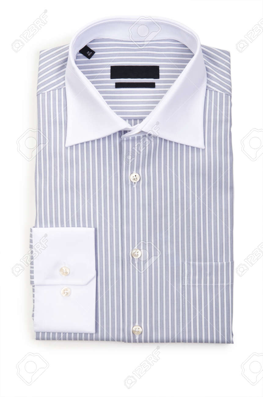 Nice male shirt isolated on the white Stock Photo - 18485139