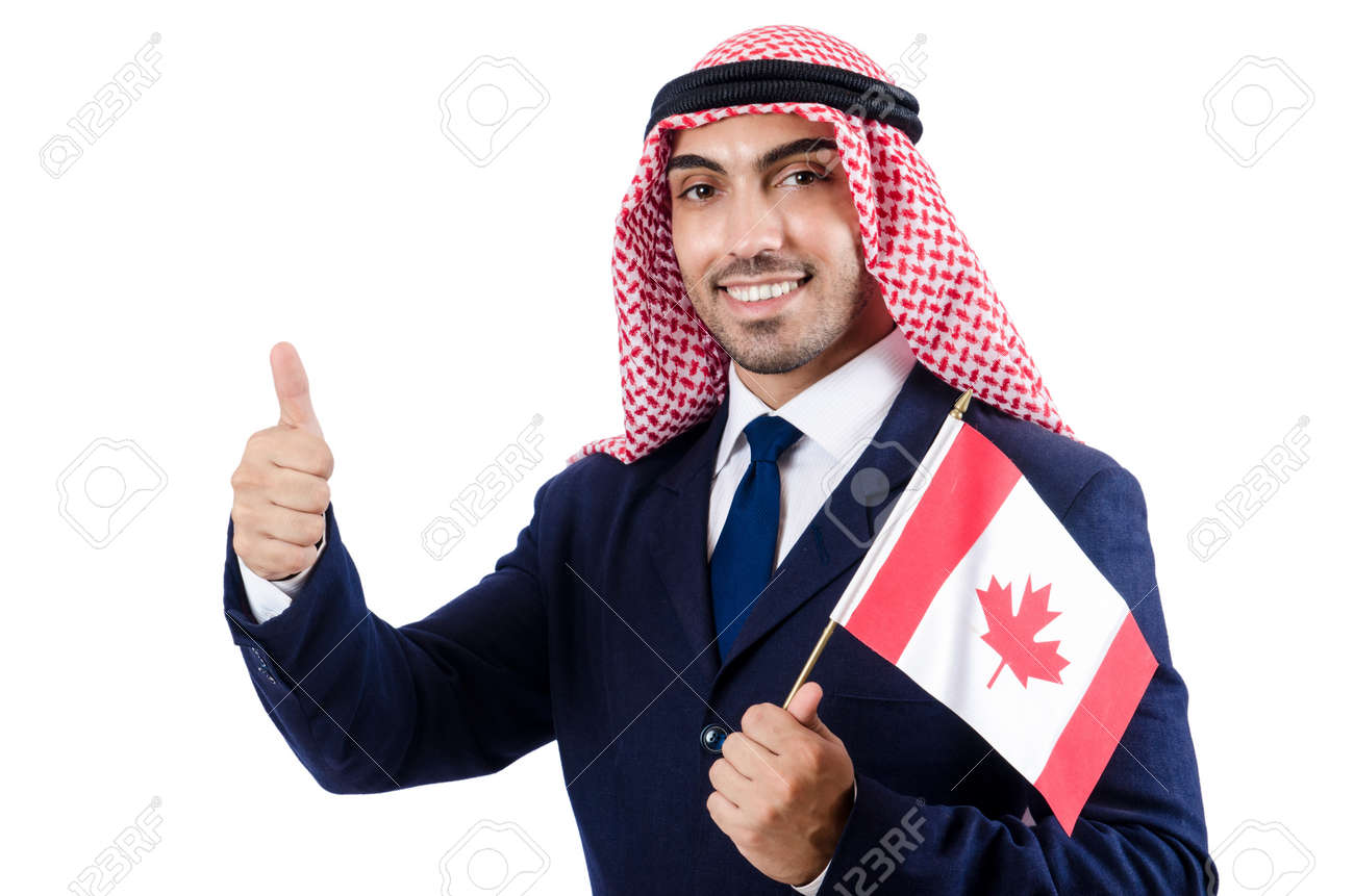 Arab businessman isolated on white Stock Photo - 18664597