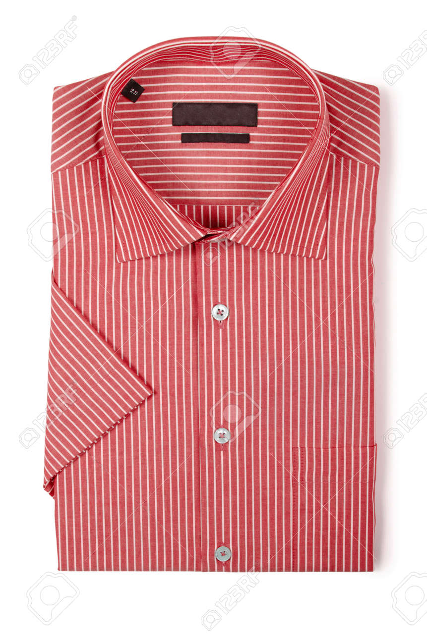 Nice male shirt isolated on the white Stock Photo - 18609870