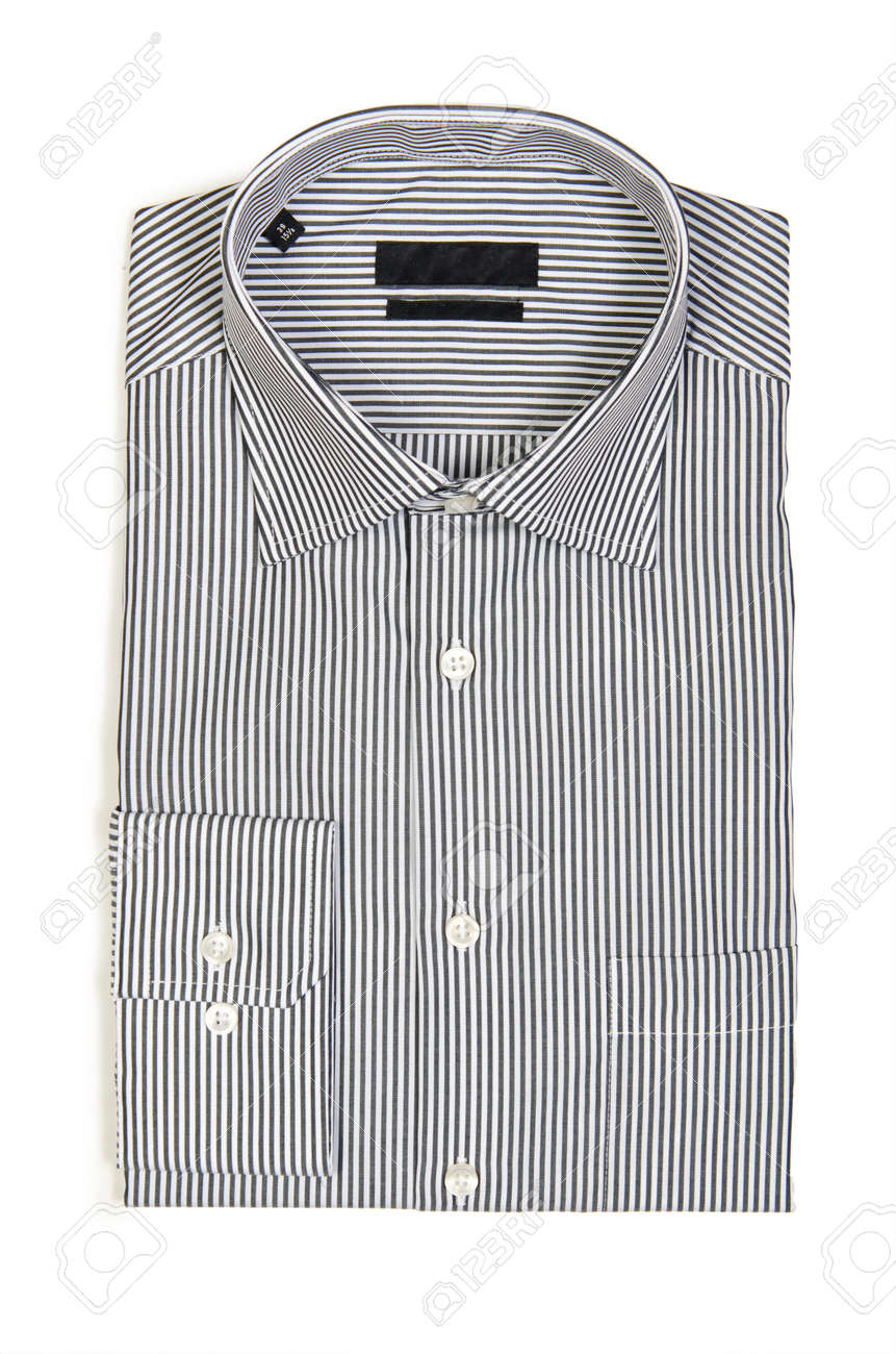 Nice male shirt isolated on the white Stock Photo - 18609781