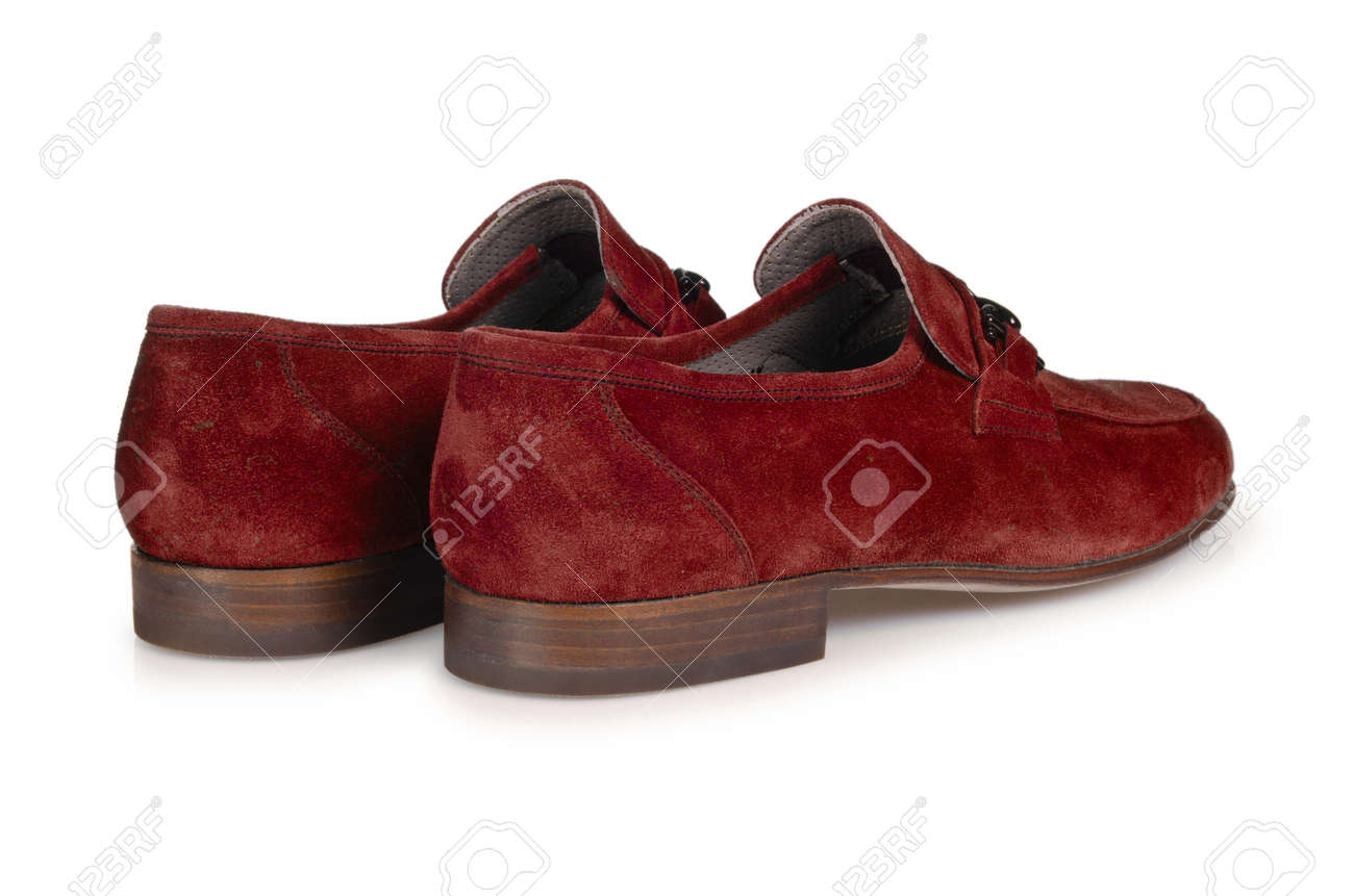 Fashion concept with male shoes on white Stock Photo - 18608530