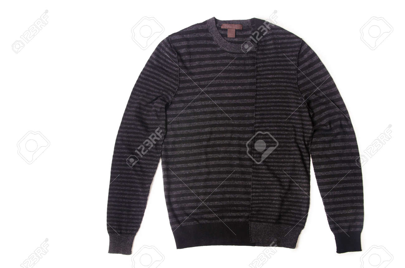 Male sweater isolated on the white Stock Photo - 18608992