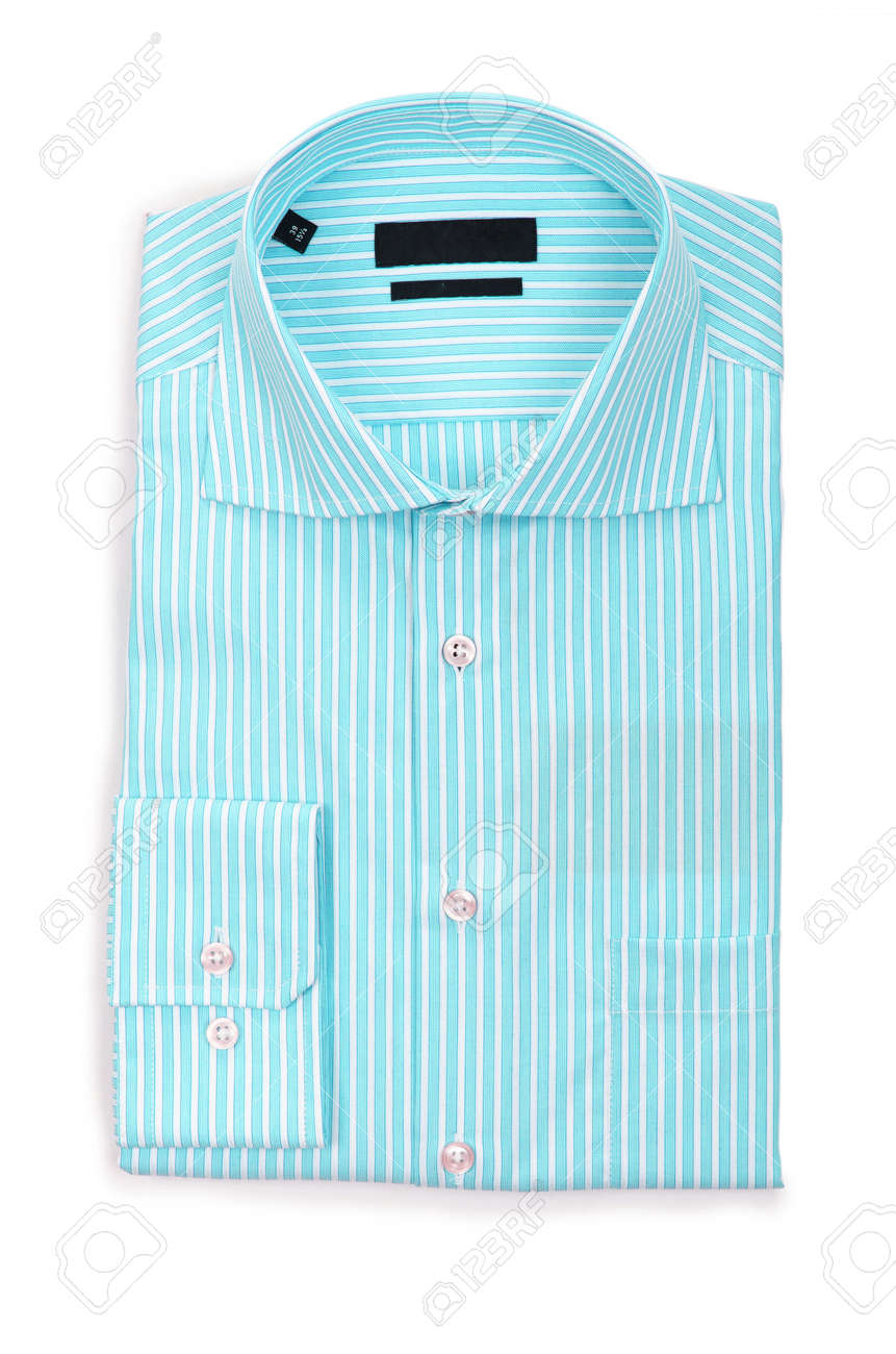 Nice male shirt isolated on the white Stock Photo - 18609771