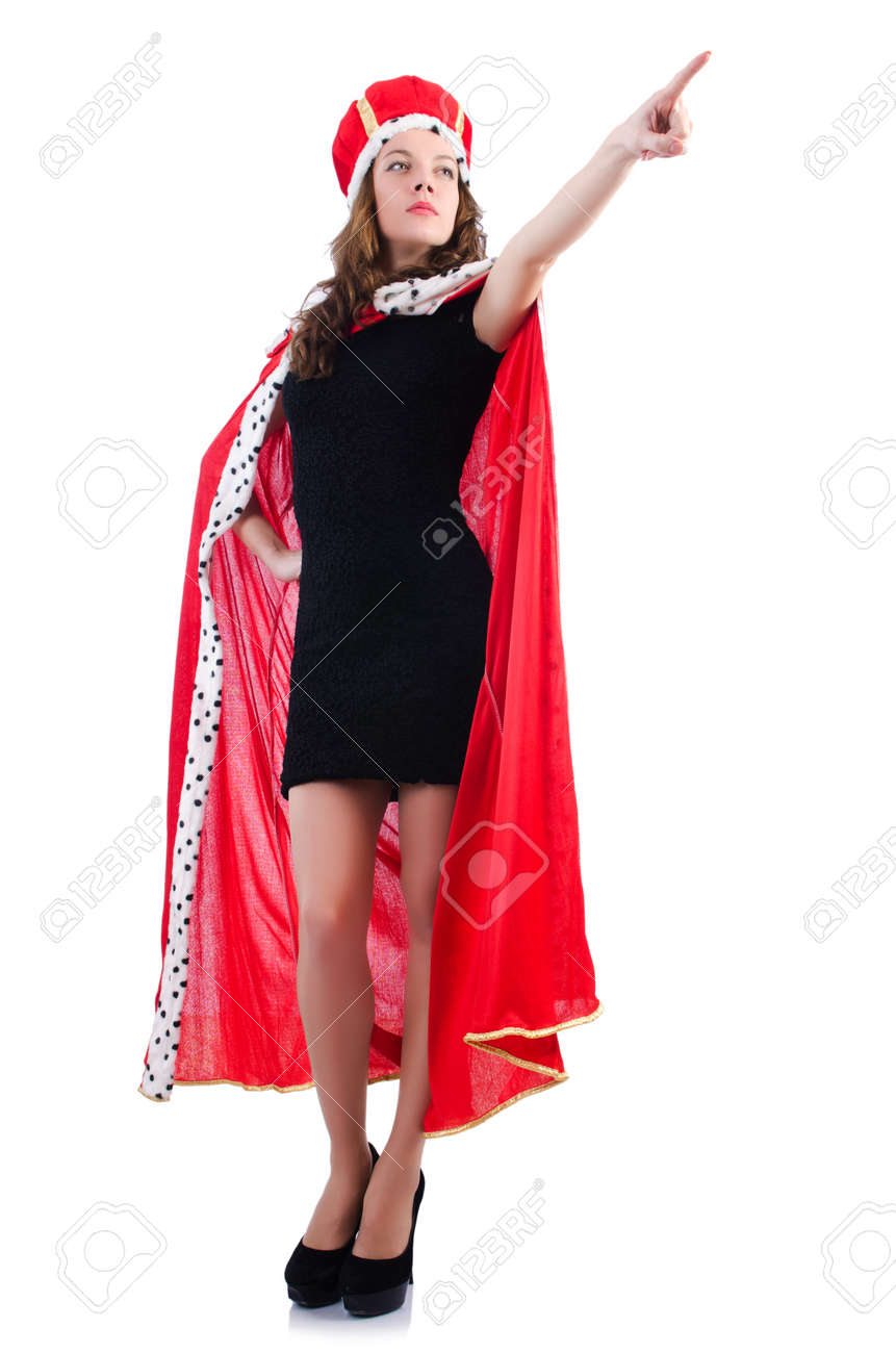 Queen businesswoman isolated on the white Stock Photo - 18607757
