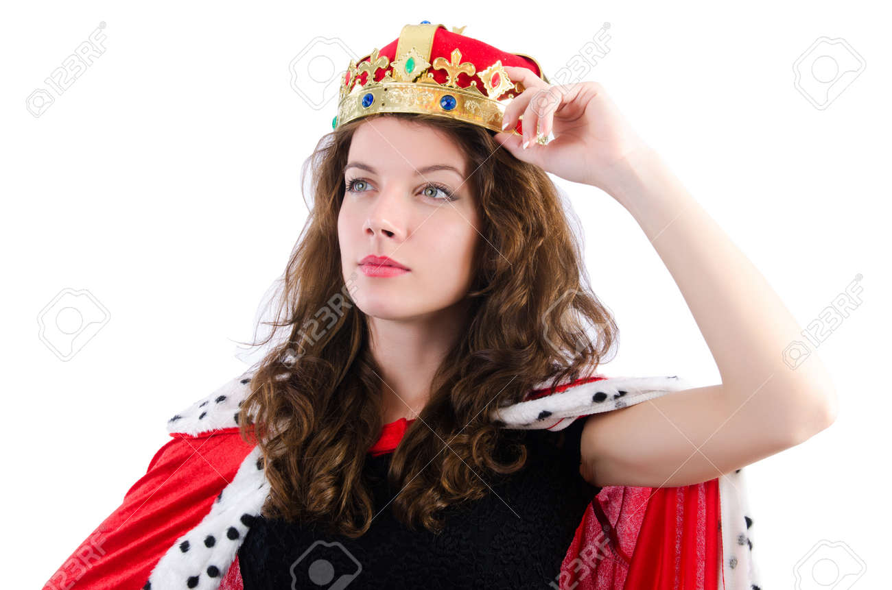 Queen businesswoman isolated on the white Stock Photo - 18650950