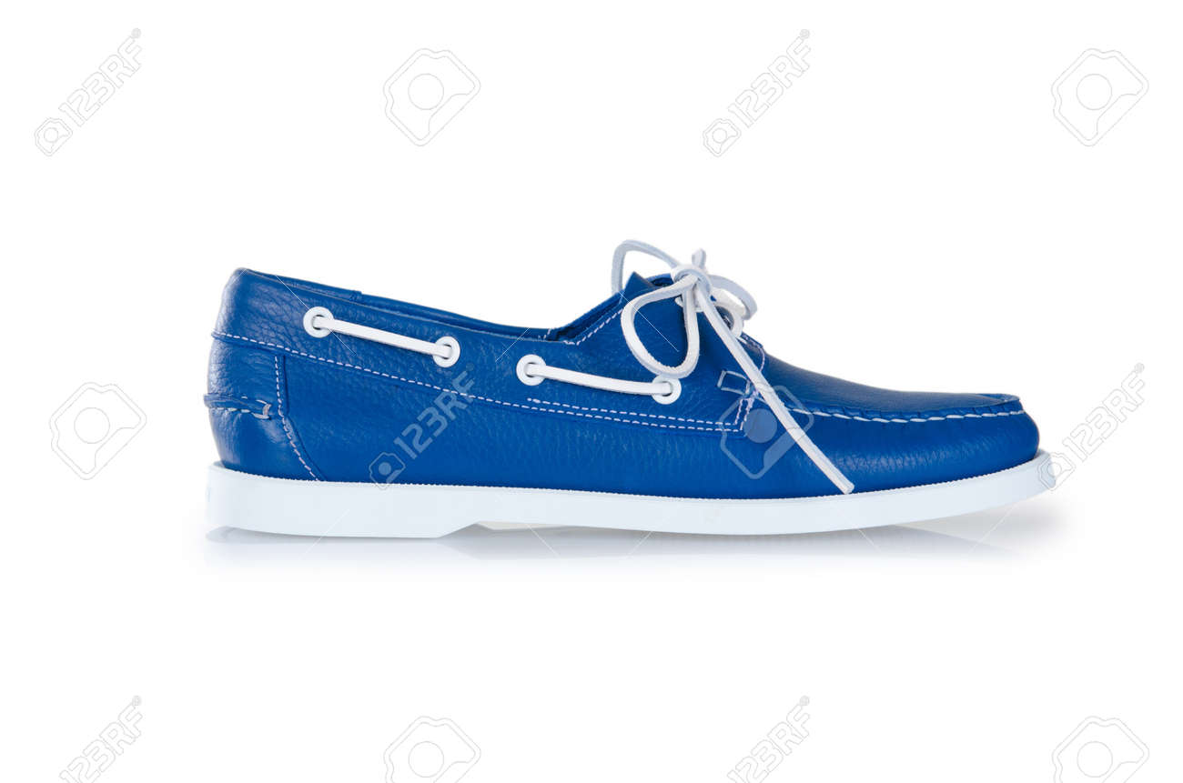 Fashion concept with male shoes on white Stock Photo - 18610880