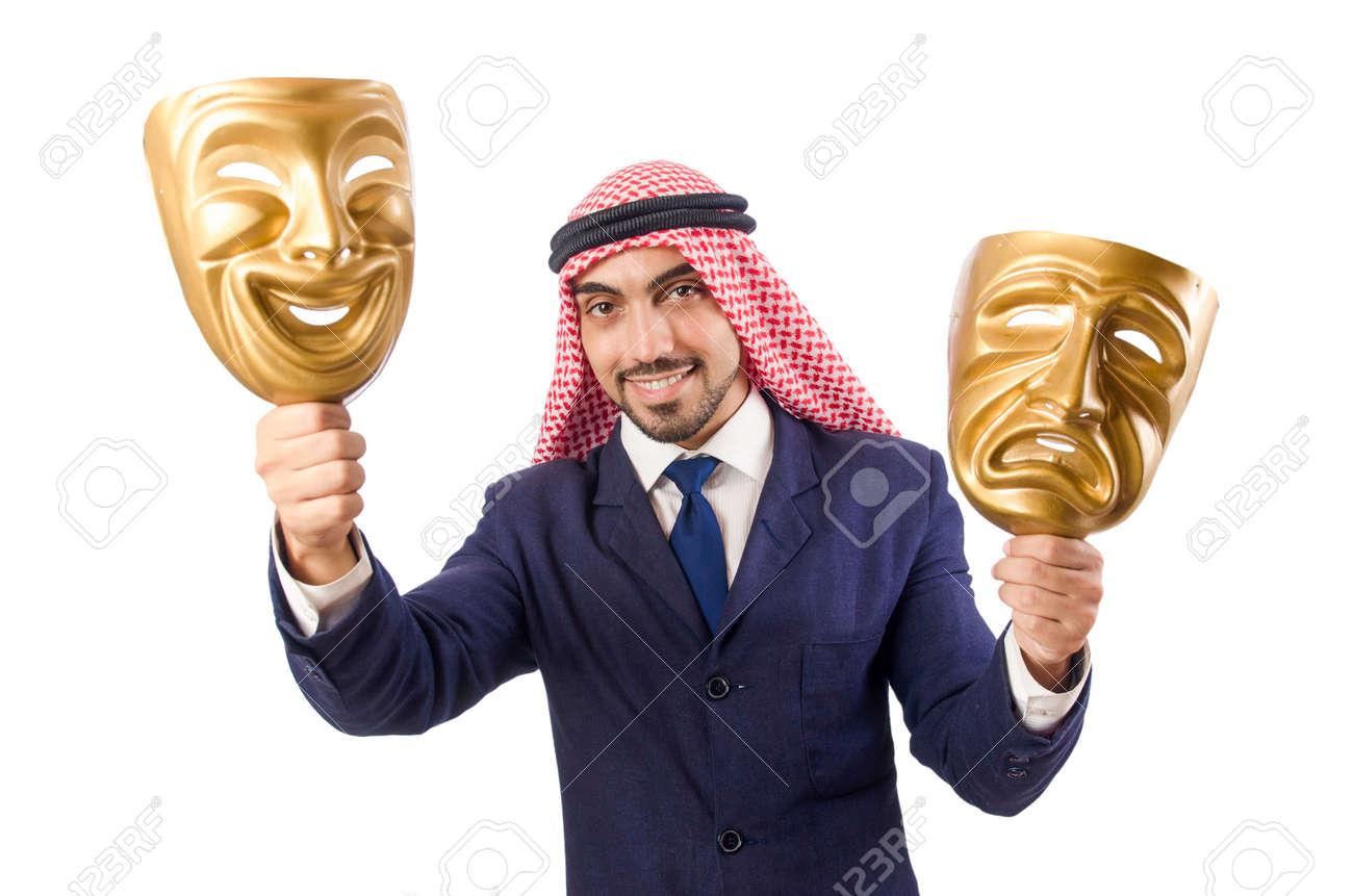 Arab man hypocrisy concept Stock Photo - 18802991