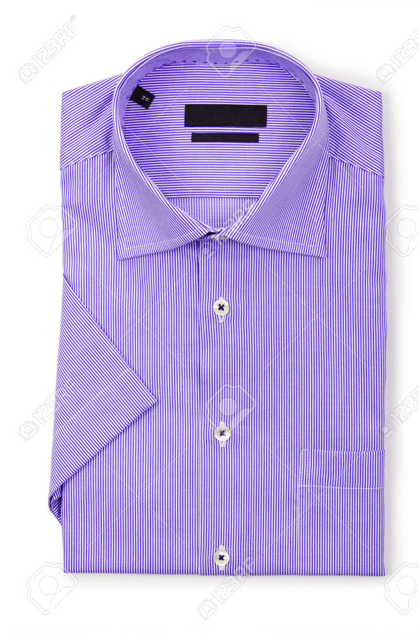 Nice male shirt isolated on the white Stock Photo - 18745012