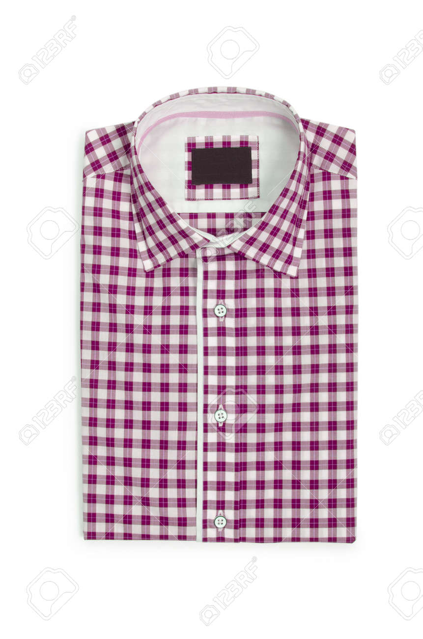 Nice male shirt isolated on the white Stock Photo - 18744492
