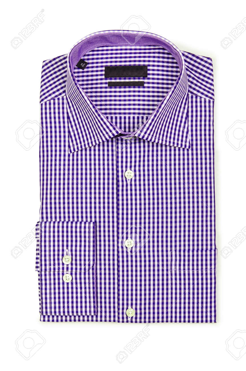 Nice male shirt isolated on the white Stock Photo - 18744984