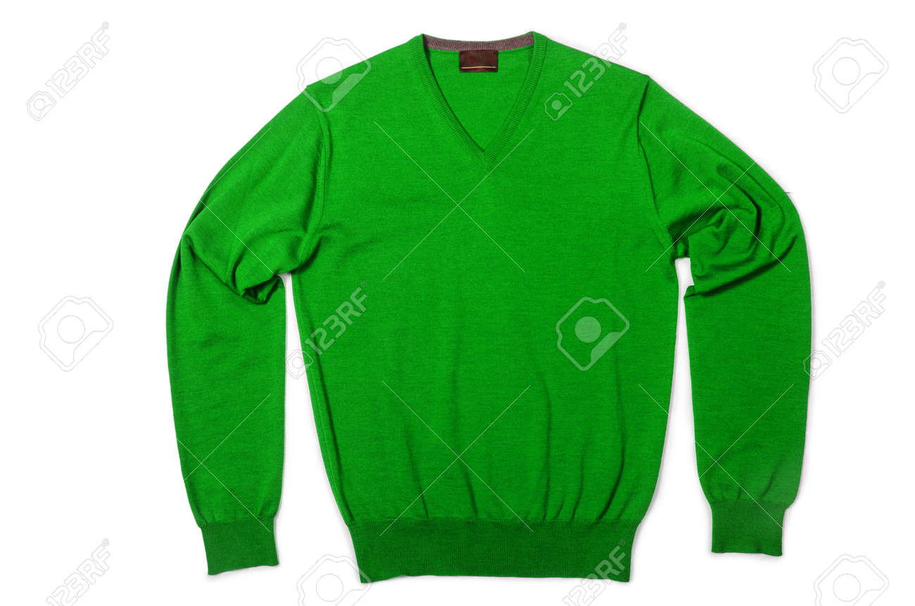 Male sweater isolated on the white Stock Photo - 18803589