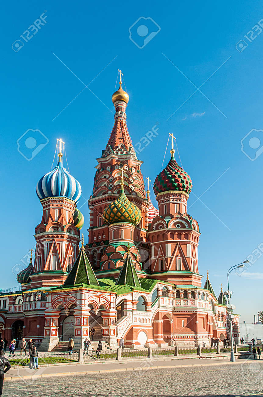 Famous st Vasily Blessed cathedral in Moscow Stock Photo - 19013152