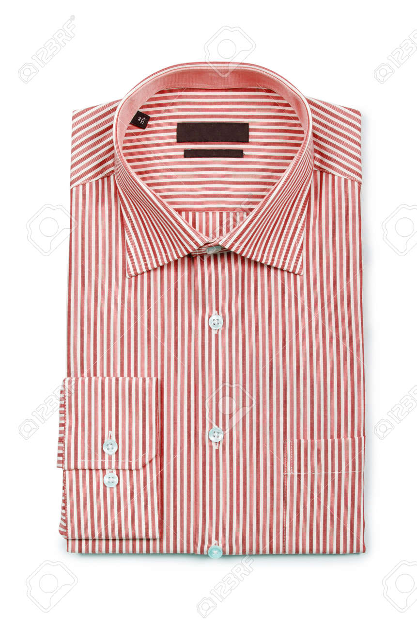 Nice male shirt isolated on the white Stock Photo - 19013357