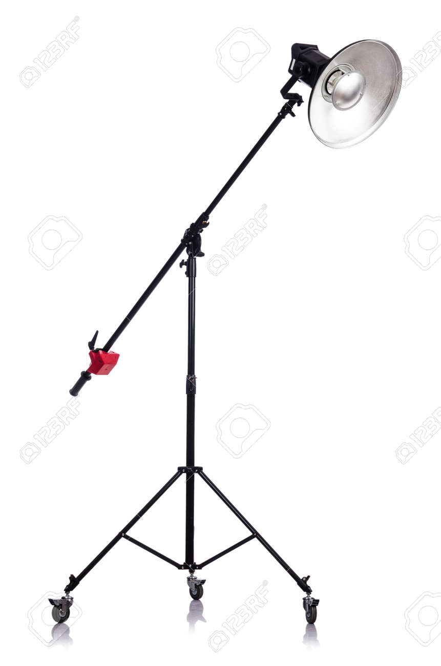 Studio light stand isolated on the white Stock Photo - 19036859